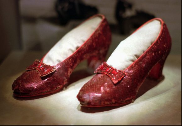 ruby red shoes The Wizard of Oz