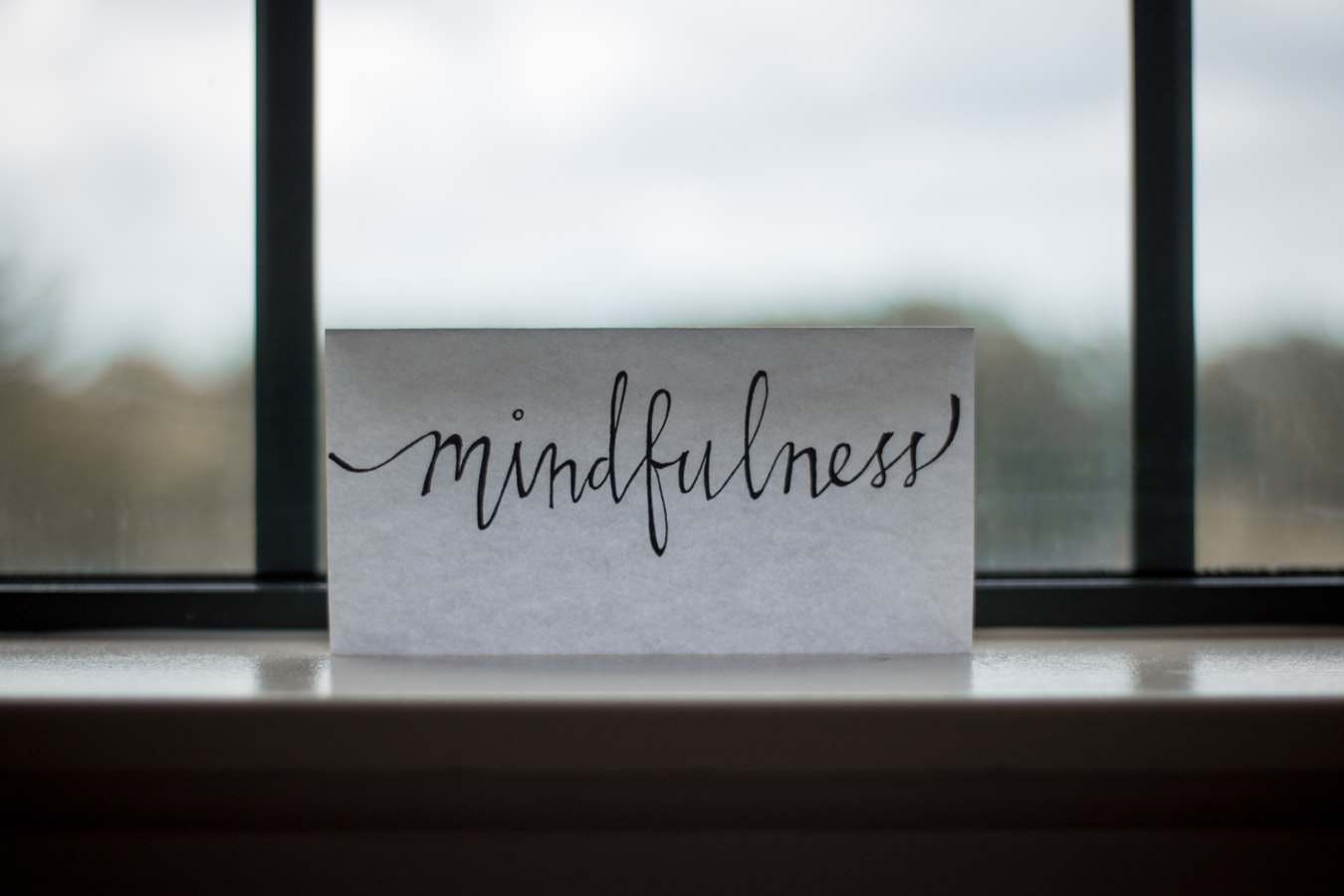 Sign with mindfulness text